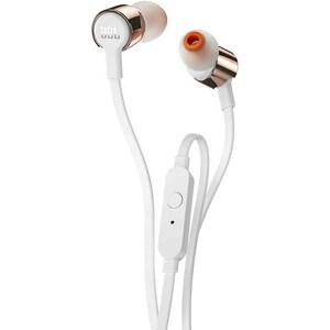 Casti JBL Tune 210, Cu fir, In-ear, Microfon, roz-auriu