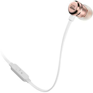 Casti JBL Tune 290, Cu fir, In-ear, Microfon, roz-auriu