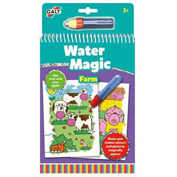 Carte de colorat GALT La ferma Water Magic, 3 ani+, 6 imagini