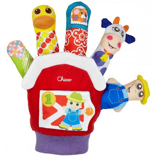 "Jucarie manusa CHICCO cu marionete ""Ferma de animale"", 3 luni - 2 ani, multicolor"