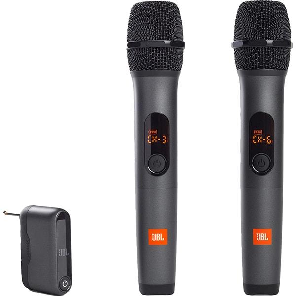 Set 2 microfoane karaoke cu dongle wireless JBL JBLWIRELESSMIC, fara fir, negru