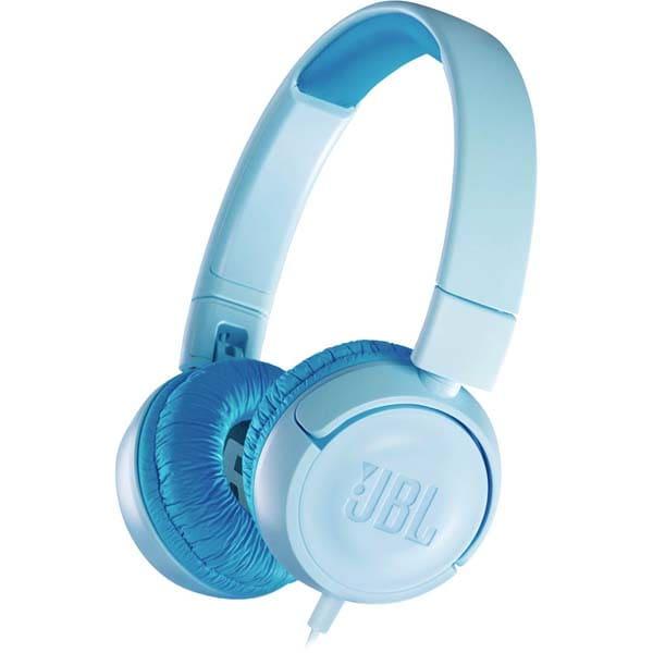 Casti pentru copii JBL JR300, Cu Fir, On-Ear, albastru
