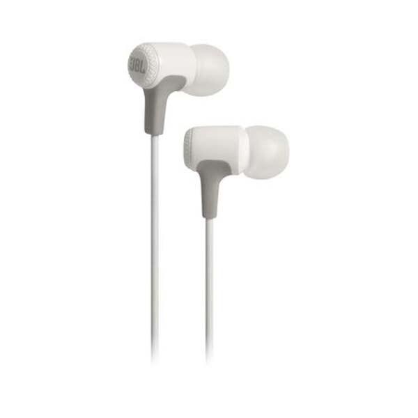 Casti JBL E15, Cu fir, In-ear, Microfon, alb