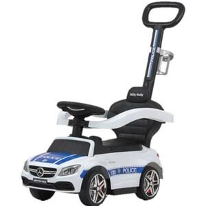 Masinuta 3in1 MILLY MALLY Mercedes AMG C63 Police M26174, 12 luni+, alb-albastru