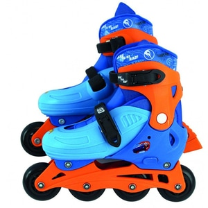 Role reglabile HOT WHEELS 42030J, 4 ani+, 4 roti, albastru-portocaliu