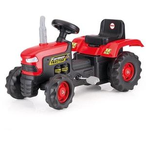Tractor cu pedale DOLU D8050, 3 ani+, rosu-negru