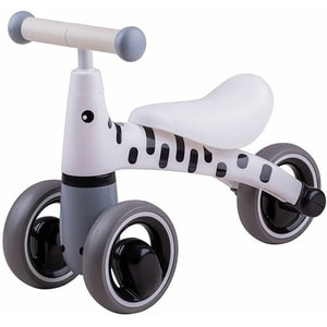 Tricicleta fara pedale DIDICAR Zebra SI4001, 1-3 ani, alb-gri inchis