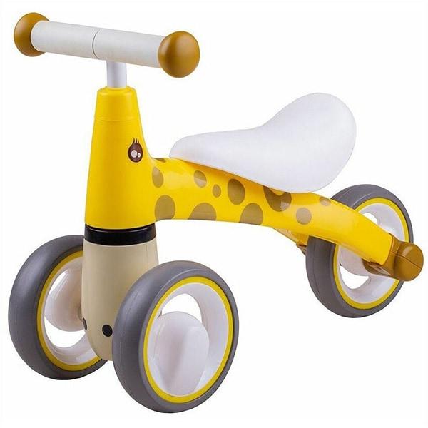 Tricicleta fara pedale DIDICAR Girafa SI4000, 1-3 ani, alb-galben