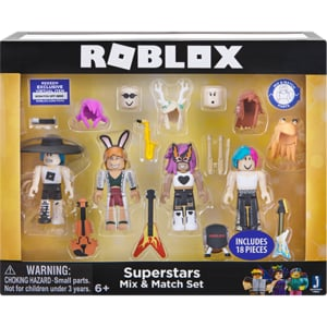 Set 4 figurine ROBLOX Celebrity Build a Billionaire Heiress Mix&Match 19860, 6 ani+, multicolor