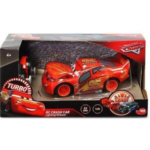 Masinuta cu telecomanda CARS Fulger McQueen - Crazy Crash 203084018, 4 ani+, rosu-negru