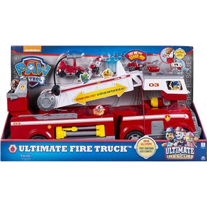 Camion SPIN MASTER Paw Patrol Ultimate fire truck 6043989, 3 ani+, rosu-alb