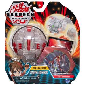 Figurina BAKUGAN Deka Jumbo - Diamond Dragonoid 6051238_20115360, 6 ani+, transparent-rosu