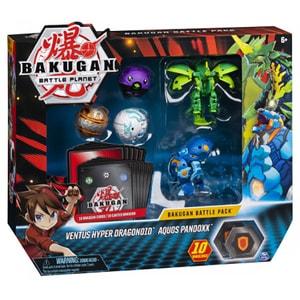 Set figurine BAKUGAN Ventus Hyper Dragonoid si Aquos Pandoxx 6045132_20115628, 6 ani+, multicolor