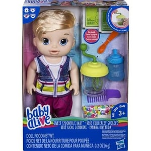Papusa HASBRO Baby Baby Alive Sweet Spoonfuls E0635, 3 ani+