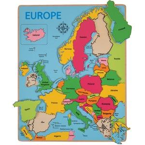 Joc puzzle BIGJIGS incastru Europa BJ048, 3 ani +, multicolor