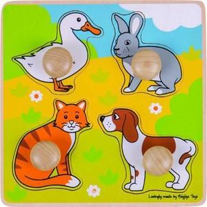 Puzzle BIGJIGS Animale de companie BJ224, 12 luni+, 4 piese