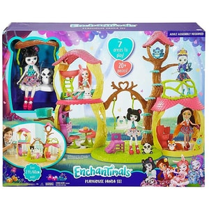 Papusa MATTEL Enchantimals Casuta lui Panda MTFNM92, 4 ani+, multicolor