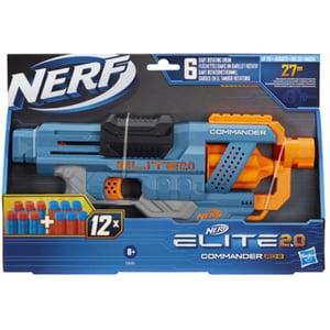 Blaster NERF Elite 2.0 Commander RD-6 E9485, 8 ani+, multicolor
