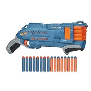 Blaster NERF Elite 2.0 Warden DB-8 E9959, 8 ani+, albastru-portocaliu