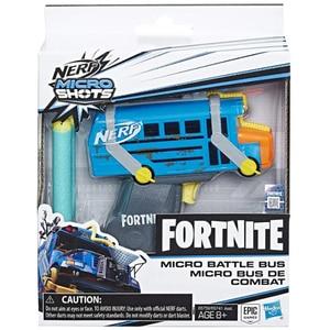 Blaster NERF Fortnite Microshots Bus E6752, 8 ani+, albastru-gri