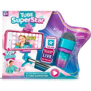 Jucarie de rol TUBE SUPERSTAR Microfon interactiv FB579UVL06CBF, 6 ani+, bleu-mov