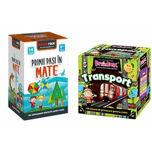 Pachet jocuri educative MEMORACE: Transport + Primii pasi in mate LG0051, 4 ani+, 111 piese