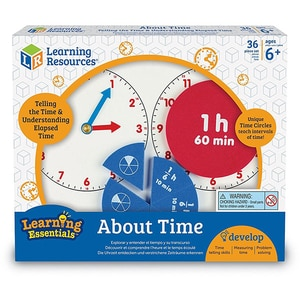 Joc educativ LEARNING RESOURCES Invatam totul despre timp LSP2541-UK, 6 -10 ani, multicolor