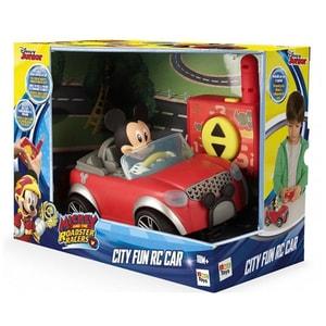Masina cu telecomanda DISNEY Mickey Mouse masina de oras 181953, 18 luni+, rosu-gri