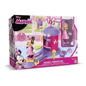Figurina DISNEY Minnie Mouse - Garderoba, cu lumini si sunete 182622, 3 ani+, roz-mov