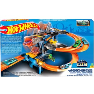 Pista HOT WHEELS Curse la fabrica MTFDF28, 5-8 ani, multicolor