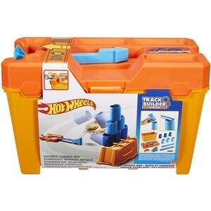 Pista cu masina HOT WHEELS Barrel Box MTGCF91, 6 - 12 ani, portocaliu-albastru