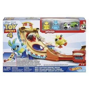 Pista cu masina MATTEL Toy Story Carnaval MTGCP24, 4 - 8 ani, multicolor
