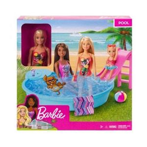 Papusa BARBIE Cu piscina MTGHL91, 3 ani+, multicolor