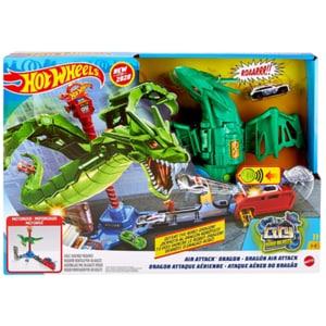 Pista cu masinuta HOT WHEELS Atacul Dragonului MTGJL13, 5-8 ani, multicolor