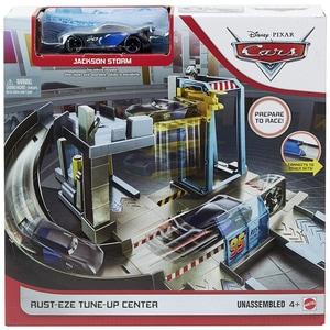 Set MATTEL Cars - Centrul lui Rust-eze MTGJW43, 4 ani+, gri-albastru deschis