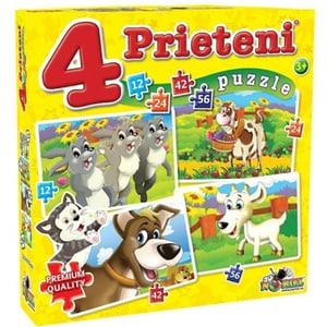 Puzzle NORIEL 4 Prieteni mari NOR2488, 3 ani+, 134 piese
