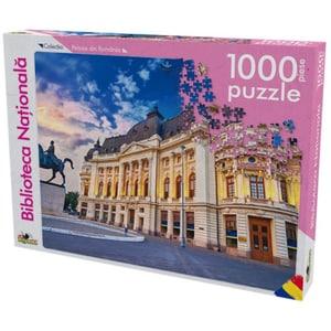 Puzzle NORIEL Peisaje din Romania - Biblioteca Nationala NOR5397, 5 ani+, 1000 piese