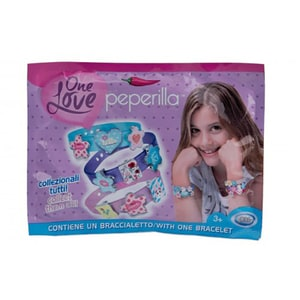 Set bratara si 3 pandantive PEPERILLA One Love 33551J, 3 ani+, multicolor