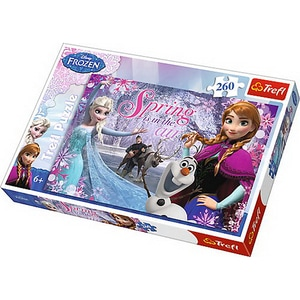 Puzzle TREFL Frozen - Primavara in tinutul inghetat 13195, 6 ani+, 260 piese