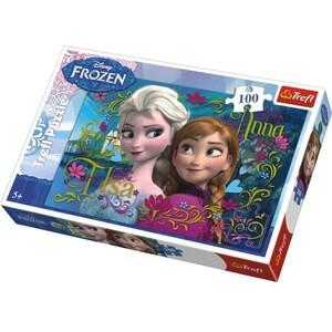 Puzzle TREFL Frozen - Anna si Elsa 16255, 5 ani+, 100 piese