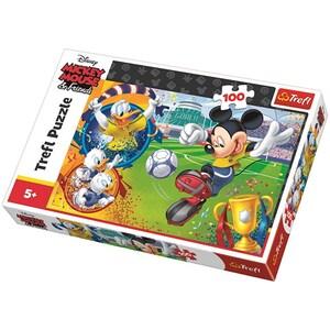 Puzzle TREFL Disney - Mickey Mouse pe terenul de sport 16353, 5 ani+, 100 piese