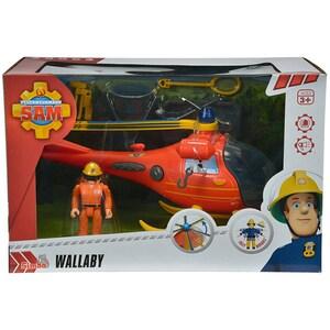 Elicopter SIMBA Fireman Sam SAM1038, 3 ani+, rosu-galben