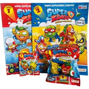 Set SUPERZINGS 2 figurine + 2 reviste SZ1010, 3 ani+, multicolor