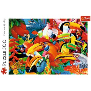 Puzzle TREFL Pasari colorate 37328, 10 ani+, 500 piese