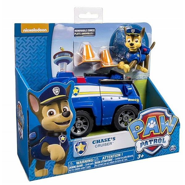 Masina PAW PATROL Chase cu masina de politie 6026050, 3 ani+, albastru-maro