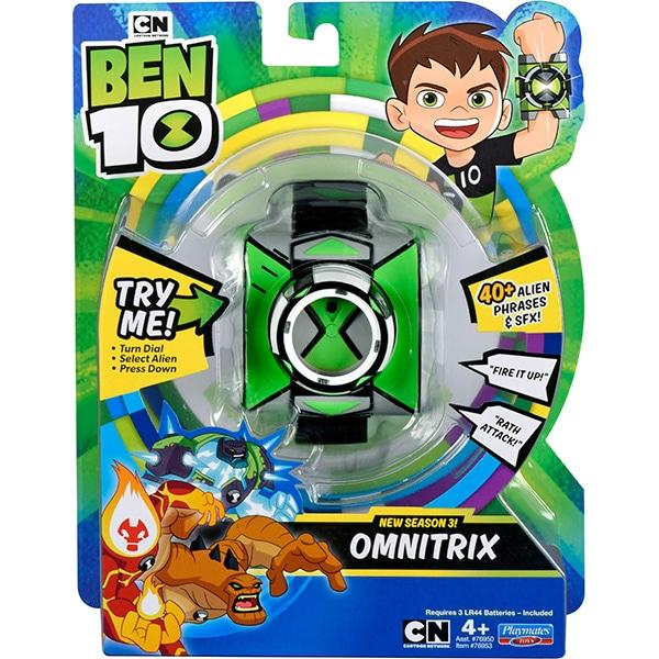Jucarie interactiva BEN 10 Ceas Omnitrix Standard S1 76953, 4 ani+, verde-negru