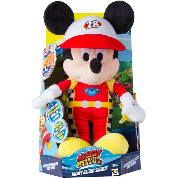 Jucarie de plus DISNEY Mickey Mouse Roadster Racers cu functii 182417, 18 luni+, rosu-negru