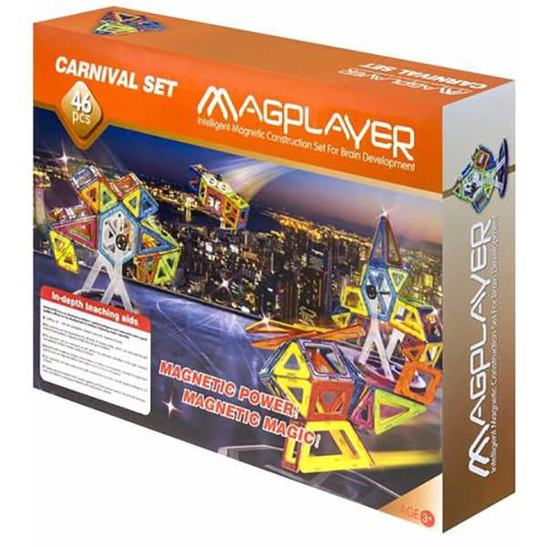 Joc constructie magnetic MAGPLAYER MPB-46, 3 ani+, 46 piese