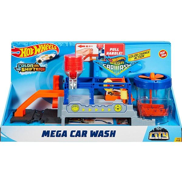 Pista cu masina HOT WHEELS City Mega Car Wash MTFTB66, 4 - 8 ani, multicolor