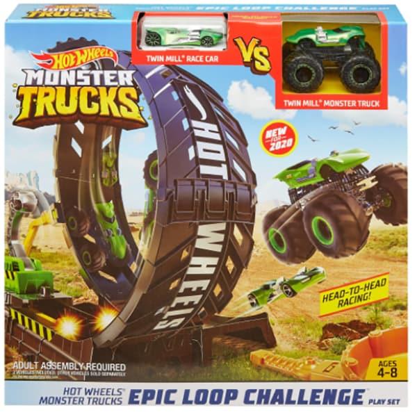 Set HOT WHEELS Monster Trucks - Provocarea pe pista MTGKY00, 4-8 ani, multicolor